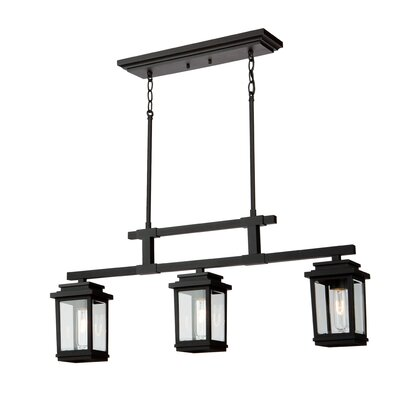 Mangerite 3-Light Kitchen Island Pendant Finish: Black