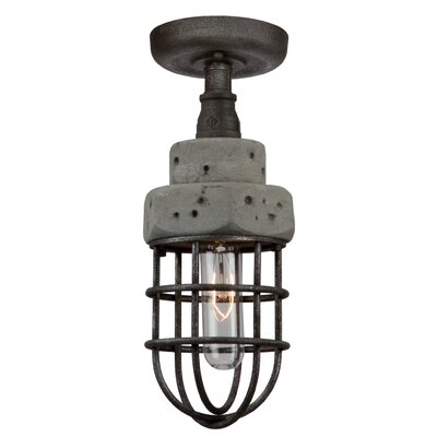 Cearra 1-Light Semi Flush Mount