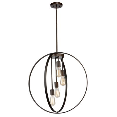 Thorsen 4-Light Globe Pendant Finish: Chrome