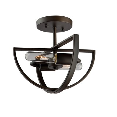 Newport 2-Light Semi Flush Mount Finish: Chrome