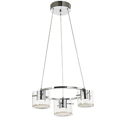 Dini 3-Light Shaded Chandelier