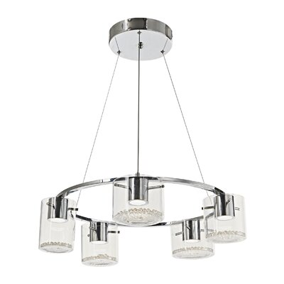 Dini 5-Light Shaded Chandelier