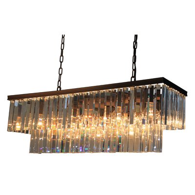 Bindera 13-Light Crystal Island Pendant Finish: Java Brown