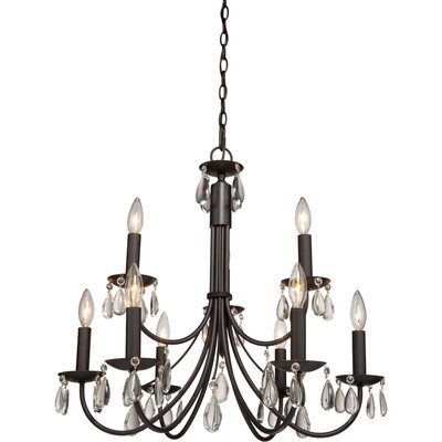 Terramo 9-Light Candle-Style Chandelier Finish: White
