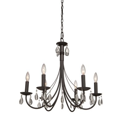 Terramo 6-Light Candle-Style Chandelier Finish: Bronze