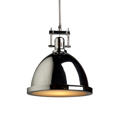 Farnham 1-Light Metal Pendant Finish: Chrome