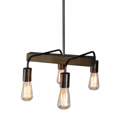 Lynwood 4-Light Pendant Kitchen island pendant Finish: Bronze