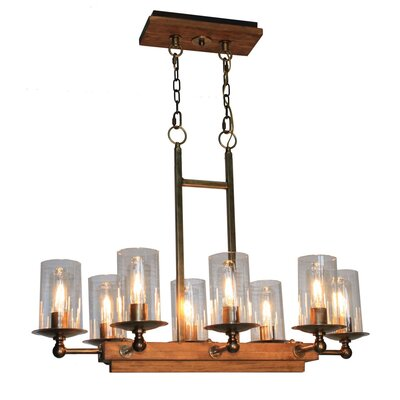 Legno Rustico 8-Light Kitchen Island Pendant Finish: Burnished Brass