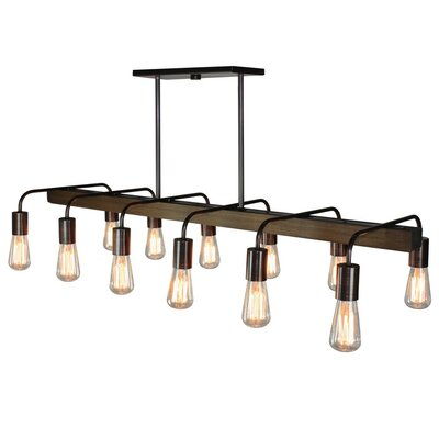 Lynwood 12-Light Kitchen Island Pendant Finish: Bronze