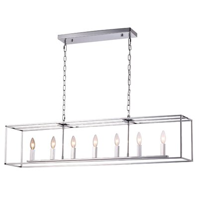 Modern Elegance 7-Light Kitchen Island Pendant