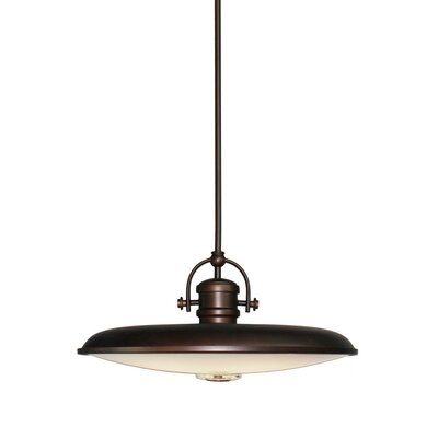 Profile 1-Light Mini Pendant Size: 9.5 H x 19.75 W, Finish: Oil Rubbed Bronze