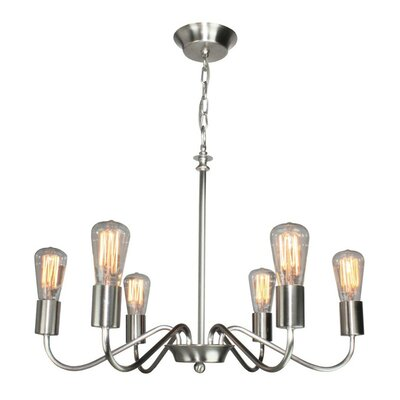 Anca 6-Light Candle-Style Chandelier Finish: Brushed Nickel