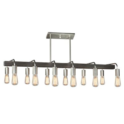 Lynwood 12-Light Kitchen Island Pendant Finish: Brushed Nickel
