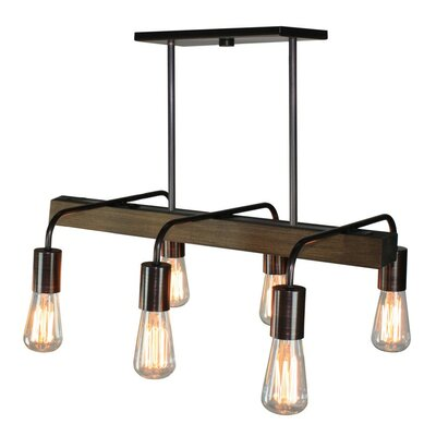 Lynwood 6-Light Kitchen Island Pendant Finish: Bronze