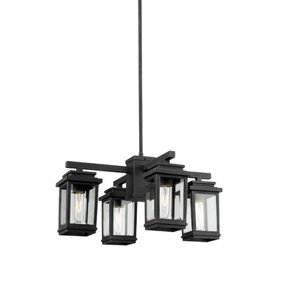 Mangerite 4-Light Kitchen Island Pendant Finish: Black