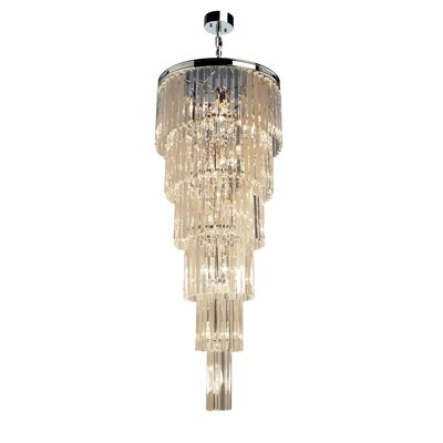 Bindera 17-Light Crystal Chandelier Finish: Java Brown