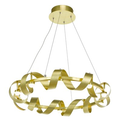 Aquilino 10-Light Geometric Pendant Finish: Brushed Brass