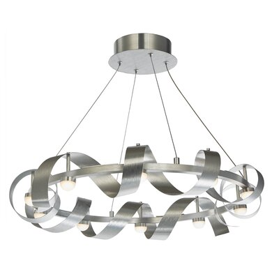 Aquilino 10-Light Geometric Pendant Finish: Brushed Aluminum