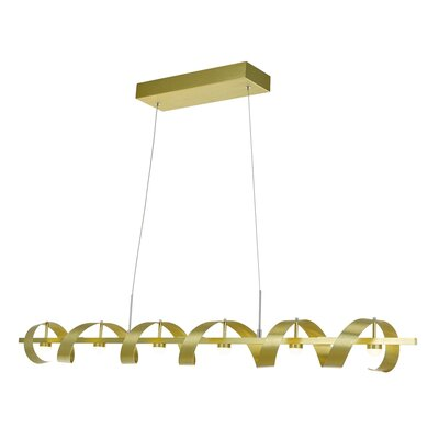 Aquilino 6-Light Kitchen Island Pendant Finish: Brushed Brass
