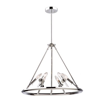 Tim 6-Light Candle-Style Chandelier