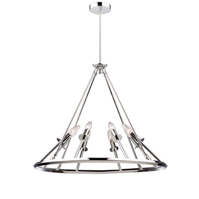 Gravity 8-Light Candle-Style Chandelier