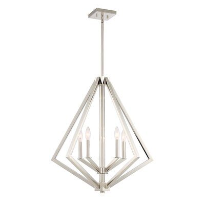Greggory 5-Light Candle-Style Chandelier Finish: Polished Nickel