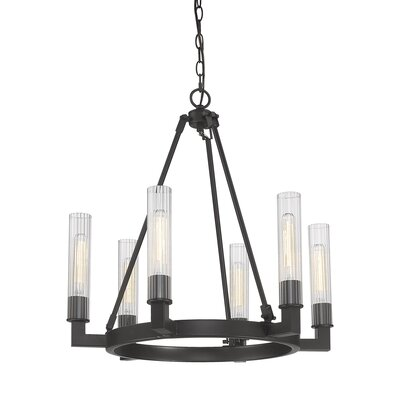 Viswa 6-Light Candel-Style Chandelier Finish: Bronze