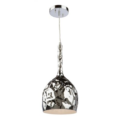 Metal 1-Light Mini Pendant Finish: Chrome