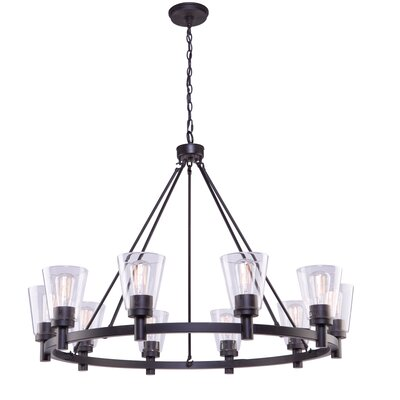 Jina 10-Light Shaded Chandelier Finish: Oil Rubbed Bronze