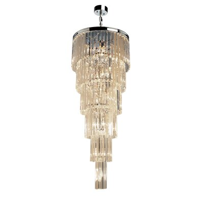 Bindera 17-Light Crystal Chandelier Finish: Chrome