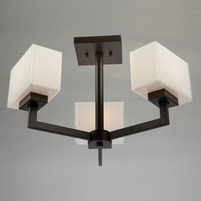 Kristi 3-Light Semi Flush Mount