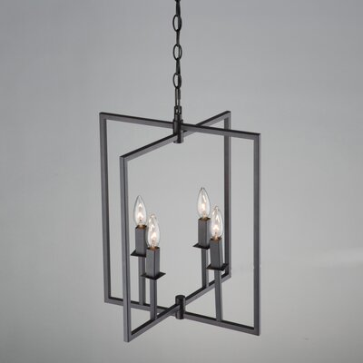 Camillea 4-Light Metal Foyer Pendant Finish: Oil Rubbed Bronze
