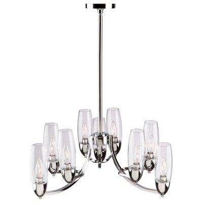 Thoma 9-Light Candle-Style Chandelier
