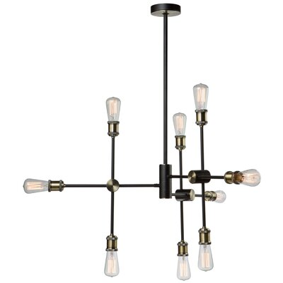 Tribeca 9-Light Sputnik Chandelier Finish: Matte Black/Satin Brass