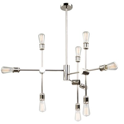 Tribeca 9-Light Sputnik Chandelier Finish: Polished Nickel