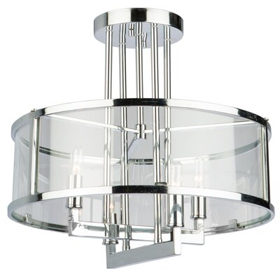 Aqunita 4-Light Semi Flush Mount