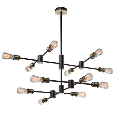 Tremaine 12-Light Sputnik Chandelier Finish: Matte Black/Satin Brass