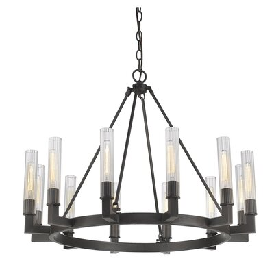 Viswa 12-Light Candle-Style Chandelier Finish: Bronze