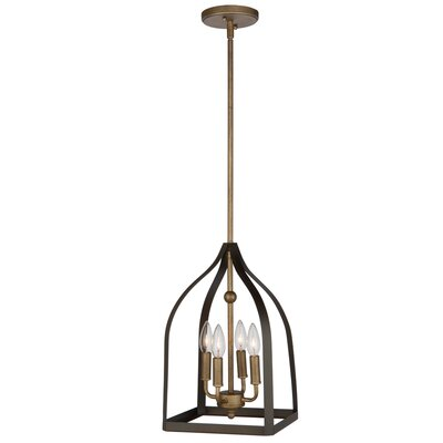 Hendrik 4-Light Mini Chandelier Size: 16 H x 10 W x 10 D