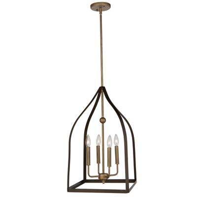 Hendrik 4-Light Mini Chandelier Size: 26 H x 14 W x 14 D