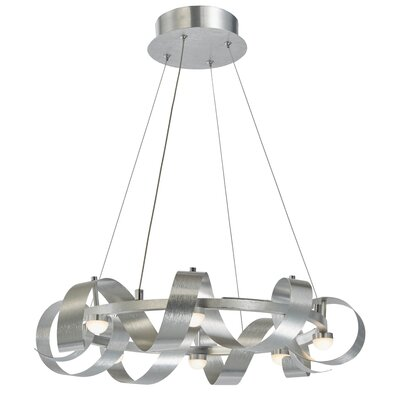 Aquilino 8-Light Geometric Pendant Finish: Brushed Aluminum