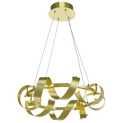 Rolling Hills 8-Light Geometric Pendant Finish: Brushed Brass