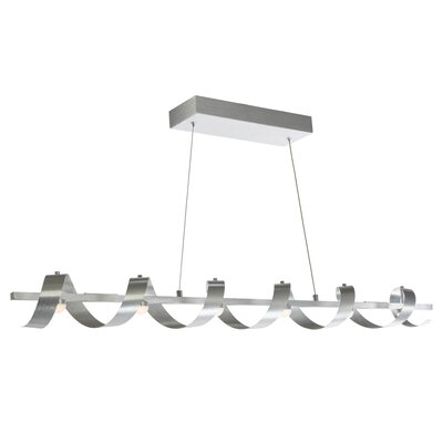 Aquilino 6-Light Kitchen Island Pendant Finish: Brushed Aluminum