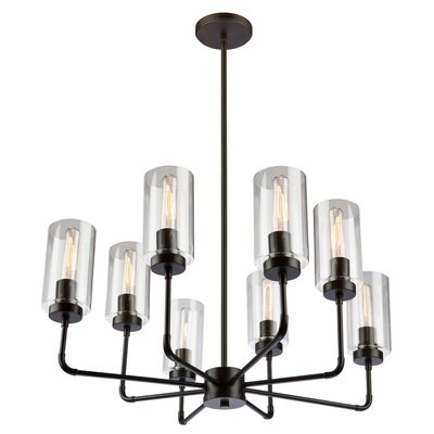Ray 8-Light Candle-Style Chandelier