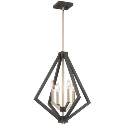 Greggory 4-Light Candle-Style Chandelier Finish: Bronze