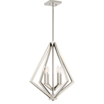Greggory 4-Light Candle-Style Chandelier Finish: Polished Nickel