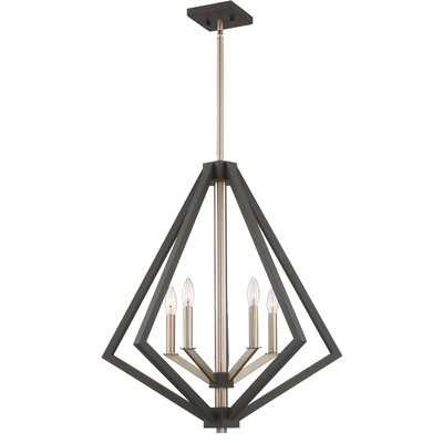 Greggory 5-Light Candle-Style Chandelier Finish: Bronze