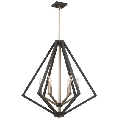 Greggory 6-Light Candle-Style Chandelier Finish: Bronze