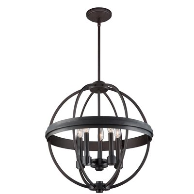 Georgea 5-Light Globe Pendant Finish: Oil Rubbed Bronze