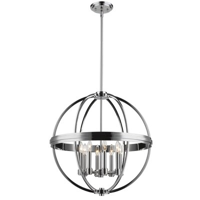 Roxbury 8-Light Globe Pendant Finish: Chrome